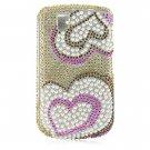 Hard Plastic Bling Design Cover Case for BlackBerry Tour 9600/9630 - Heart