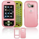 Hard Plastic Rubber Feel Cover Case for LG Neon GT365 (AT&T) - Pink