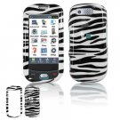 Hard Plastic Design Cover Case for Samsung Highlight T749 - Black / White Zebra