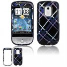 Hard Plastic Design Faceplate Case Cover for HTC Hero - Dark Blue/Black