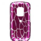 Hard Plastic Design Faceplate Case Cover for HTC Hero - Pink Giraffe
