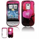 Hard Plastic Design Faceplate Case Cover for HTC Hero - Red/Pink Heart