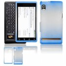 "Hard Plastic Dual-Tone ""Matte"" Feel Faceplate Case Cover for Motorola Droid - Blue"