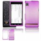 "Hard Plastic Dual-Tone ""Matte"" Feel Faceplate Case Cover for Motorola Droid - Purple"