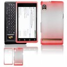 "Hard Plastic Dual-Tone ""Matte"" Feel Faceplate Case Cover for Motorola Droid - Red"