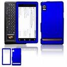 Hard Plastic Rubber Feel Faceplate Case Cover for Motorola Droid - Dark Blue