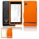 Hard Plastic Rubber Feel Faceplate Case Cover for Motorola Droid - Orange
