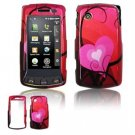 Hard Plastic Design Faceplate Case Cover for LG Bliss UX700 - Red Hearts