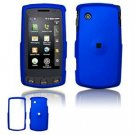 Hard Plastic Rubber Feel Faceplate Case Cover for LG Bliss UX700 - Dark Blue