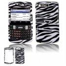 Hard Plastic Design Faceplate Case Cover for Samsung Intrepid i350 - Black/White Stripes