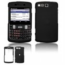 Hard Plastic Rubber Feel Faceplate Case Cover for Samsung Intrepid i350 - Black