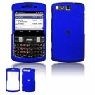 Hard Plastic Rubber Feel Faceplate Case Cover for Samsung Intrepid i350 - Dark Blue