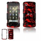 Hard Plastic Design Faceplate Case Cover for LG Chocolate Touch - Red/Black