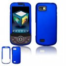 Hard Plastic Rubber Feel Faceplate Case Cover for Samsung Behold 2 T939 - Dark Blue