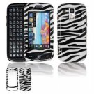 Hard Plastic Design Faceplate Case Cover for Samsung Rogue U960 - Black/White Stripes