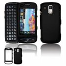 Hard Plastic Rubber Feel Faceplate Case Cover for Samsung Rogue U960 - Black