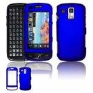 Hard Plastic Rubber Feel Faceplate Case Cover for Samsung Rogue U960 - Dark Blue