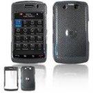 Hard Plastic Design Faceplate Case Cover for Blackberry Storm 2 9550 - Black Carbon Fiber