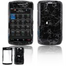 Hard Plastic Design Faceplate Case Cover for Blackberry Storm 2 9550 - Winter Flowers