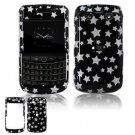 Hard Plastic Shield Protector Faceplate Case for BlackBerry Bold 2 9700 - Black Stars