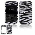 Hard Plastic Shield Protector Faceplate Case for BlackBerry Bold 2 9700 - Black/White Stripes