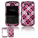 Hard Plastic Shield Protector Faceplate Case for BlackBerry Bold 2 9700 - Pink/Black