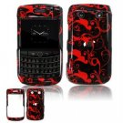 Hard Plastic Shield Protector Faceplate Case for BlackBerry Bold 2 9700 - Red/Black