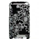 Hard Plastic Design Faceplate Case Cover for HTC Imagio - Black Skulls