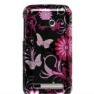 Hard Plastic Design Faceplate Case Cover for HTC Imagio - Pink Butterflies