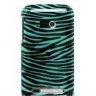 Hard Plastic Design Faceplate Case Cover for HTC Imagio - Turquoise/Black Stripes