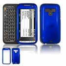 Hard Plastic Glossy Faceplate Case Cover for HTC Touch Pro 2 (Sprint) - Dark Blue