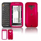 Hard Plastic Glossy Faceplate Case Cover for HTC Touch Pro 2 (Sprint) - Rose Pink