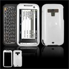 Hard Plastic Glossy Faceplate Case Cover for HTC Touch Pro 2 (Sprint) - White