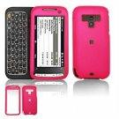 Hard Plastic Rubber Feel Faceplate Case Cover for HTC Touch Pro 2 (Sprint) - Hot Pink
