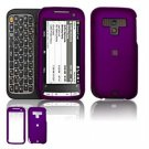Hard Plastic Rubber Feel Faceplate Case Cover for HTC Touch Pro 2 (Sprint) - Purple