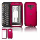 Hard Plastic Rubber Feel Faceplate Case Cover for HTC Touch Pro 2 (Sprint) - Rose Pink