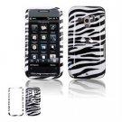 Hard Plastic Design Faceplate Case Cover for HTC Touch Pro 2 (T-Mobile) - Black/White Stripes