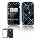 Hard Plastic Design Faceplate Case Cover for HTC Touch Pro 2 (Verizon) - Dark Blue/Black Plaid