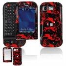 Hard Plastic Design Cover Case for LG Tritan AX840 - Red/Black