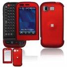 Hard Plastic Rubber Feel Cover Case for LG Tritan AX840 - Dark Red