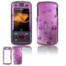 Hard Plastic Design Faceplate Case Cover for Motorola Debut i856 - Purple Rain Drops