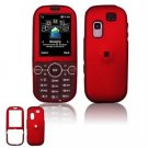Hard Plastic Rubber Feel Faceplate Case Cover for Samsung Gravity 2 T469 - Dark Red