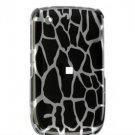 Hard Plastic Design Cover Case for BlackBerry Curve 8520 (T-Mobile) - Black Giraffe