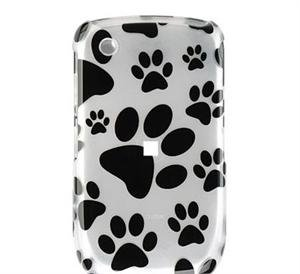 Hard Plastic Design Cover Case for BlackBerry Curve 8520 (T-Mobile) - Pawprint