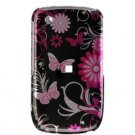 Hard Plastic Design Cover Case for BlackBerry Curve 8520 (T-Mobile) - Pink Butterfly