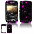 Hard Plastic Design Cover Case for BlackBerry Curve 8520 (T-Mobile) - Pink Stars