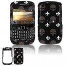 Hard Plastic Design Cover Case for BlackBerry Curve 8520 (T-Mobile) - Skull Pattern