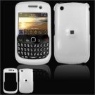 Hard Plastic Glossy Smooth Case for BlackBerry Curve 8520 (T-Mobile) - White