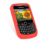 Soft Rubber Silicone Skin Cover Case for BlackBerry Curve 8520 - Red