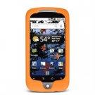 Soft Rubber Silicone Skin Cover Case for Google Nexus One - Orange